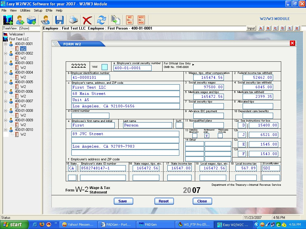 EasyTax W2 & 1099 Software screenshot